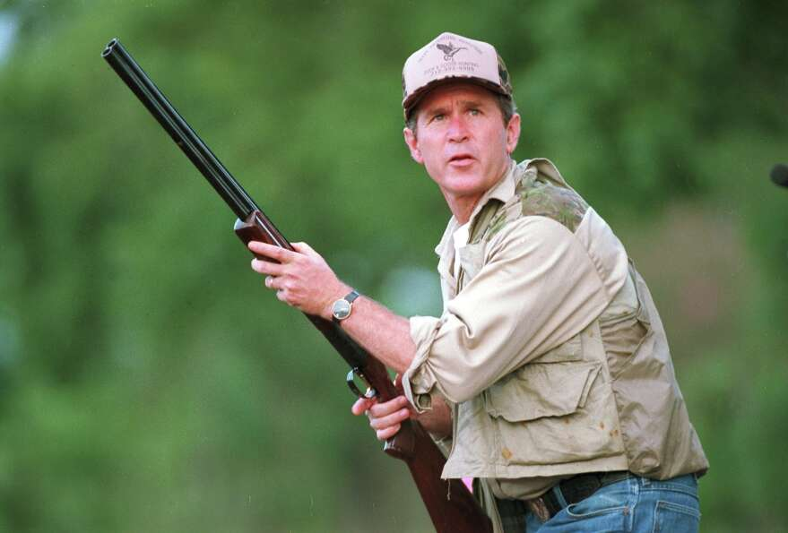 FILE - In this Sept. 1, 1994 file photo, George W. Bush ... George W Bush Hunting