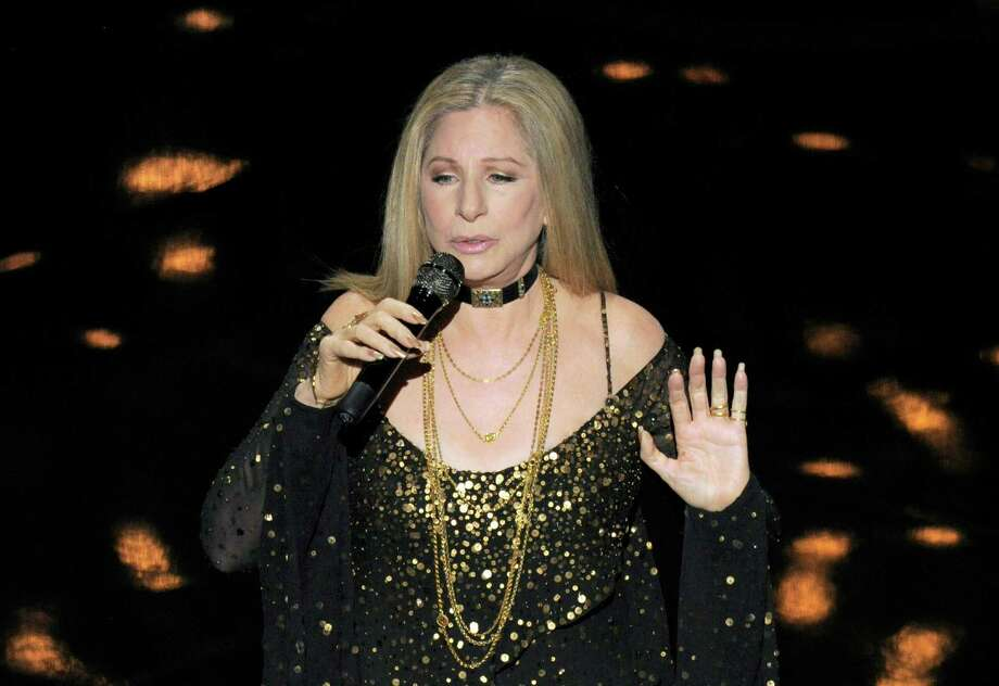 "Actress/singer Barbra Streisand performs ""Memories"" for the In Memoriam tribute during the Oscars at the Dolby Theatre on Sunday Feb. 24, 2013, in Los Angeles.  (Photo by Chris Pizzello/Invision/AP) Photo: Chris Pizzello / Invision"