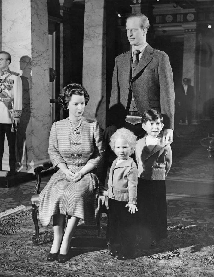 Waxworks of the British royal family at Madame Tussauds based on their likeness in 1952, London, 11th May 1977. Clockwise from left, Queen Elizabeth II, Prince Philip, Duke of Edinburgh, Prince Charles and Princess Anne. (Photo by Graham Morris/Evening Standard/Getty Images) Photo: Graham Morris