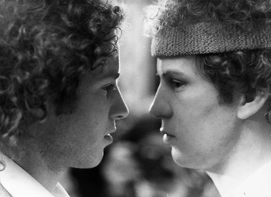 18th June 1981:  American tennis star John McEnroe (left) comes face to face with his wax double at Madame Tussaud's Wax Museum in London.  (Photo by Rob Taggart/Central Press/Getty Images) Photo: Rob Taggart