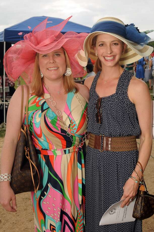 Suzanne Shelton and Leslie Sloan at a Yellowstone Academy benefit at the Houston  Polo Club Sunday April 21, 2013.(Dave Rossman photo)