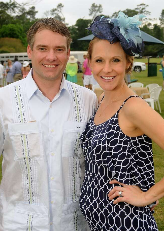 Chairs Matt and Allison Laird at a Yellowstone Academy benefit at the Houston  Polo Club Sunday April 21, 2013.(Dave Rossman photo)