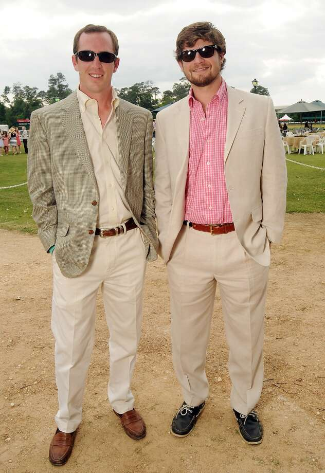 Barrett King and Bo Hughes at a Yellowstone Academy benefit at the Houston  Polo Club Sunday April 21, 2013.(Dave Rossman photo)