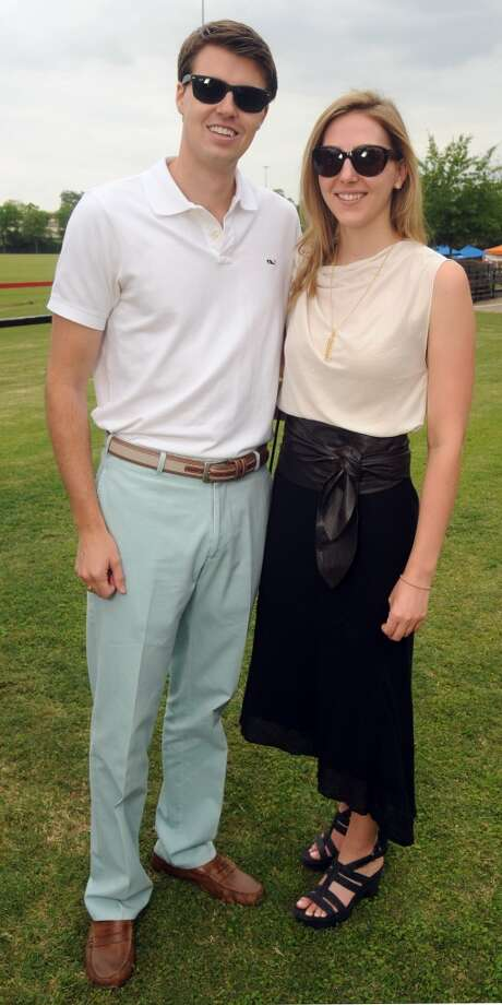 Mitchell Currie and Katy Decker at a Yellowstone Academy benefit at the Houston  Polo Club Sunday April 21, 2013.(Dave Rossman photo)