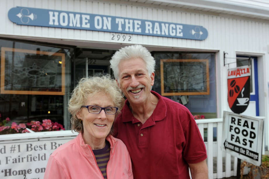 Joanne McGillicuddy and Steve Penna, husband and wife owners of Home on the Range, on Fairfield Ave., in Bridgeport, Conn., April 23rd, 2013. Photo: Ned Gerard / Connecticut Post