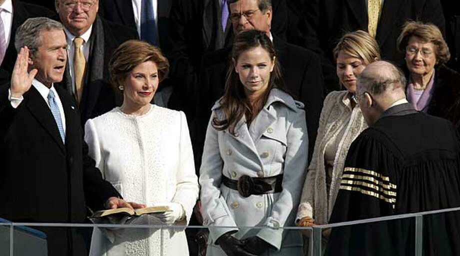 George W. Bush\'s second inauguration. AP Photo.