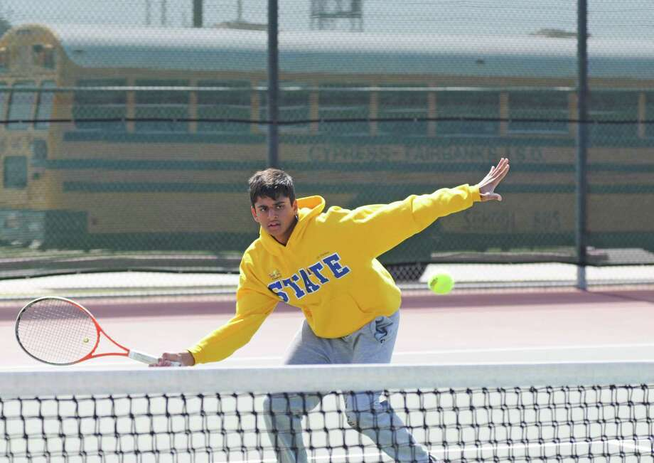 Klein junior Raghunath Kadamangudi is fresh off a region championship in boys doubles with partner Travis Lenz and will compete in the UIL Class 5A State Tournament Monday and Tuesday, April 29-30, in Austin. Photo: L. Scott Hainline / Freelance