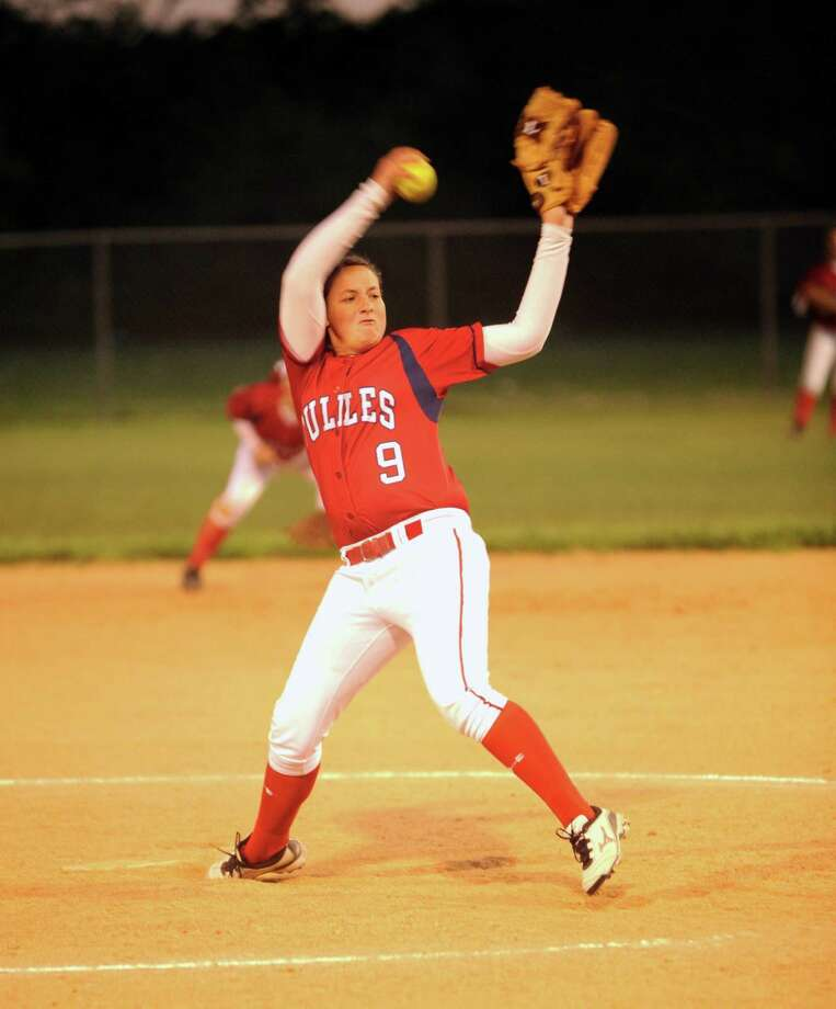 Dulles pitcher Leah Dillow and the Vikings are headed to the team's first-ever trip to the playoffs this season. Photo: Eddy Matchette, Freelance / Freelance
