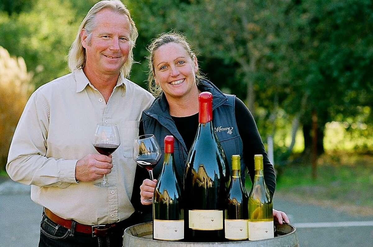 Mat and Barb Gustafson of Paul Mathew Vineyards.