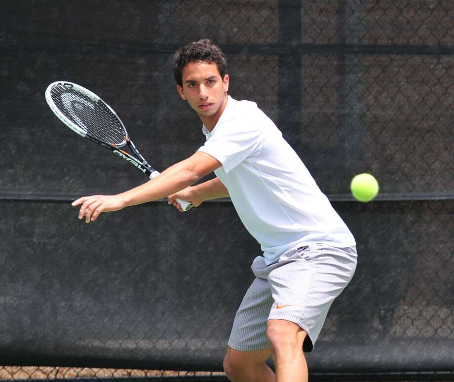Awty's Karim Arem won the state championship in boys singles this season for the Rams, who secured second place in the Class 4A Henderson Cup competition among TAPPS schools. Photo: Â Tony Bullard 2013, Freelance Photographer / © Tony Bullard & the Houston Chronicle