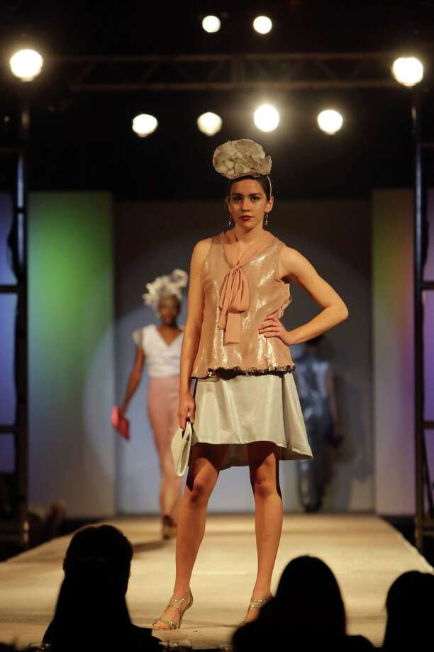 """Paper Doll"" Collection by Courtney Casares, who was among the nine University of Incarnate Word students who presented six looks for the Cutting Edge Fiesta Fashion Show on Monday April 22, 2013. Photo: Helen L. Montoya, San Antonio Express-News / ©2013 San Antonio Express-News"