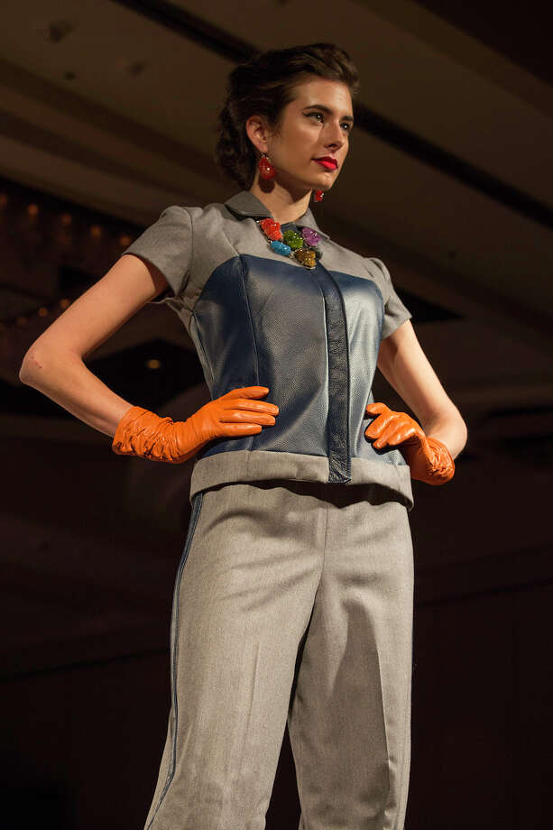 Designs by Shatorria Whitener at The Cutting Edge Fiesta Fashion Show at Marriott Rivercenter Hotel, Monday, April 22, 2013. Photo: J. MICHAEL SHORT, FOR THE EXPRESS-NEWS / THE SAN ANTONIO EXPRESS-NEWS