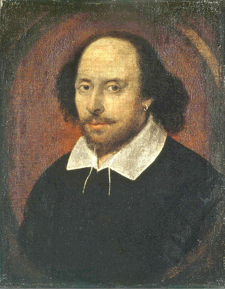 "The ""Chandos"" portrait is one of the most famous of the portraits that may depict William Shakespeare (1564–1616). Believed to have been painted from life between 1600 and 1610, it may have served as the basis for the engraved portrait of Shakespeare used in the First Folio in 1623. Photo: Getty"