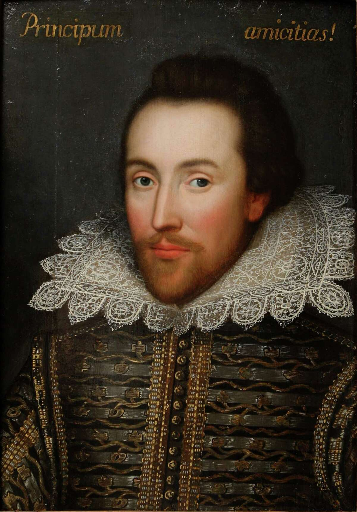 William Shakespeare was baptized on April 26, 1564 and died April 23, 1616 ... suffice it to say, those were some fairly productive years for this particular human being. To celebrate this auspicious week, we've hunted down some surprising moments of mostly famous people performing or rehearsing his plays (or those plays and movies that were derived from his work). We also interspersed the various images of the playwright and poet. The one above is considered to be the one most like the man (more about the portrait in the last slide ... on with the fun). Happy Shakespeare week!