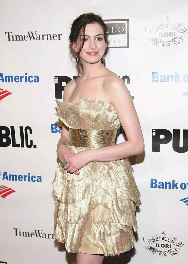 Actress Anne Hathaway attends the 2009 Shakespeare in the Park opening night performance of ''Twelfth Night'' at the Delacorte Theater on June 25, 2009 in New York City. Photo: Michael Loccisano, Getty / 2009 Getty Images