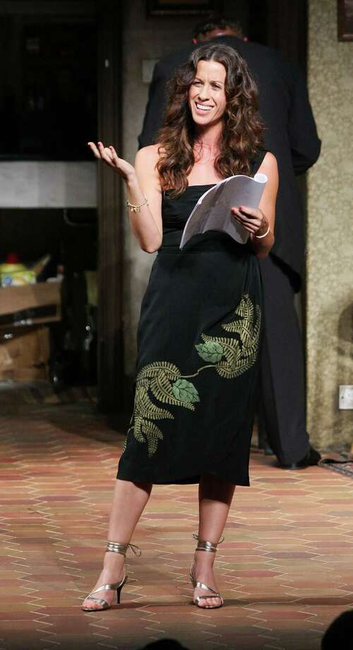 "Cast member Alanis Morissette on stage during the presentation of the Shakespeare Festival/LA 2009 Simply Shakespeare adaptation of ""The Comedy of Errors"" at the Geffen Playhouse on May 18, 2009 in Westwood, California. Photo: Ryan Miller, Getty / 2009 Ryan Miller"