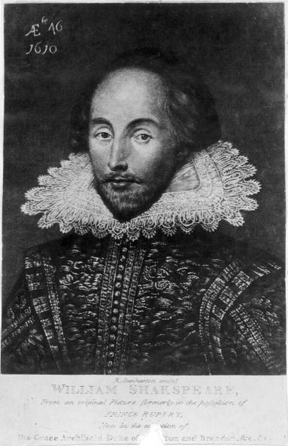 Circa 1610, Engraving after a portrait by Jansen, of the English dramatist, William Shakespeare (1564 - 1616). Photo: Hulton Archive, Getty / Hulton Archive