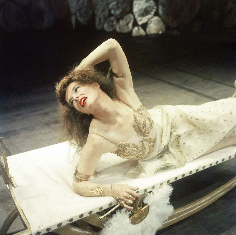 Actress Katharine Hepburn in scene from Antony and Cleopatra at American Shakespeare Festival. Photo: Martha Holmes, Getty / Martha Holmes