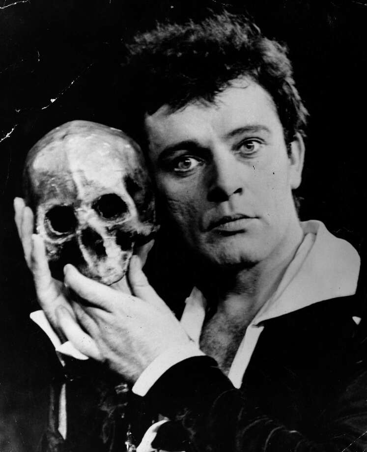 Welsh film and stage actor Richard Burton (1925 - 1984) takes the lead in the Old Vic production of Shakespeare's 'Hamlet', at the Assembly Hall, Edinburgh, during the Festival of Music and Drama. The Edinburgh Festival of Music and Drama began in 1947 and is held annually for three weeks in August. Various other festivals are held at the same time in the city to take advantage of the large number of visitors in the area and the most famous of these is the Edinburgh Fringe. Photo: Keystone, Getty / Hulton Archive