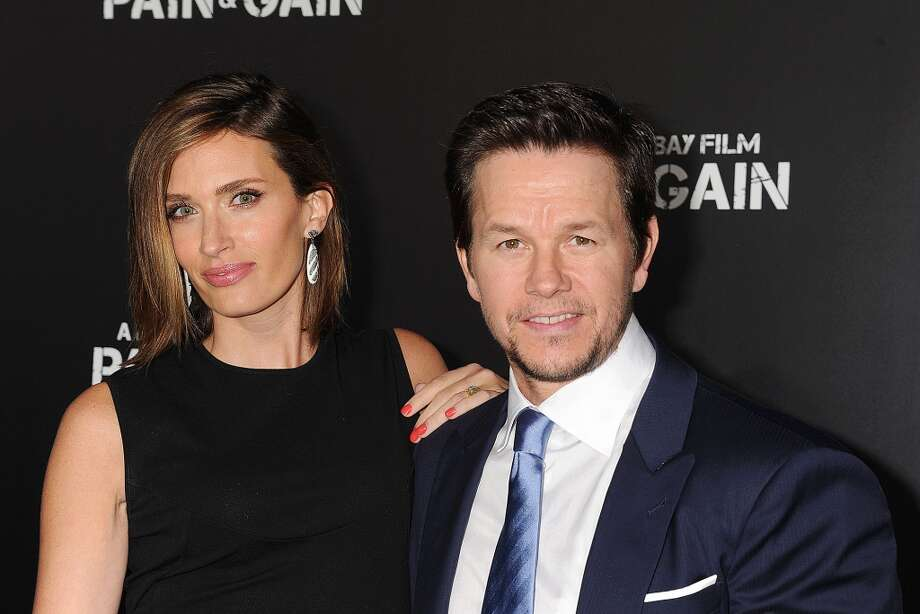 HOLLYWOOD, CA- APRIL 21: Actor Mark Wahlberg and Rhea Durham attend the \'Pain & Gain\' premiere held at TCL Chinese Theatre on April 22, 2013 in Hollywood, California.(Photo by Jeffrey Mayer/WireImage)