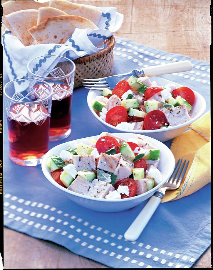 Good Housekeeping recipe for Mediterranean Swordfish Salad. Photo: Brian Hagiwara