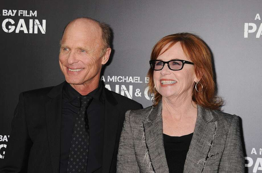 HOLLYWOOD, CA- APRIL 21: Actors Ed Harris and Amy Madigan attend the \'Pain & Gain\' premiere held at TCL Chinese Theatre on April 22, 2013 in Hollywood, California.(Photo by Jeffrey Mayer/WireImage)