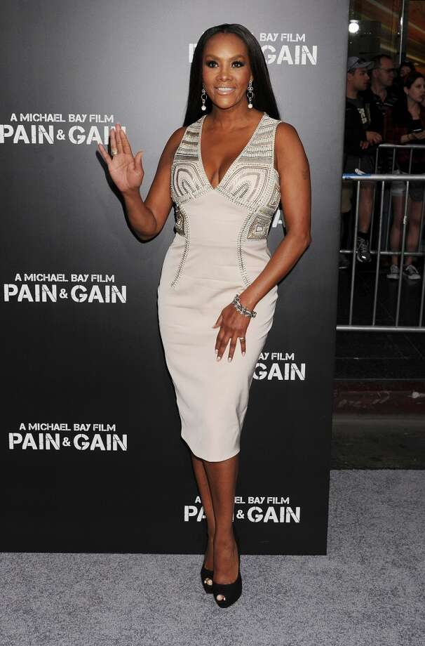 HOLLYWOOD, CA- APRIL 21: Actress Vivica A. Fox attends the \'Pain & Gain\' premiere held at TCL Chinese Theatre on April 22, 2013 in Hollywood, California.(Photo by Jeffrey Mayer/WireImage)