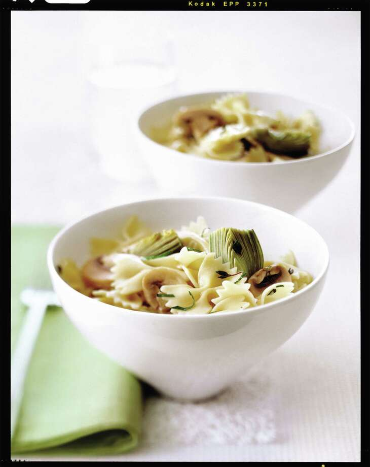 Farfalle with Baby Artichokes and Mushrooms Photo: Antonis Achilleos