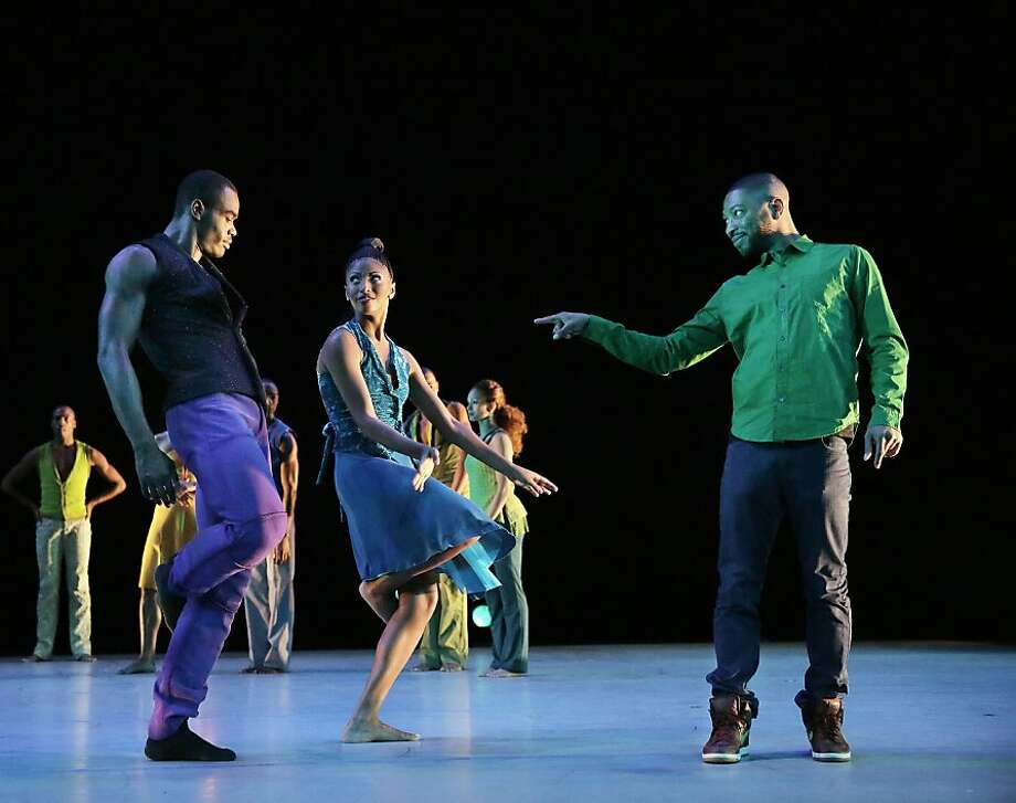 "Alvin Ailey American Dance Theater made a breezy success of the local premiere of Kyle Abraham's ""Another Night."" Photo: Paul Kolnik, Alvin Ailey Dance Company"