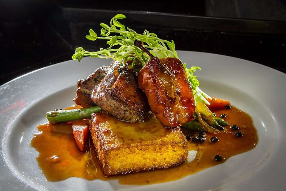 Duck breast slices in a peppery gastrique of honey and robust stock ($19). Photo: John Storey
