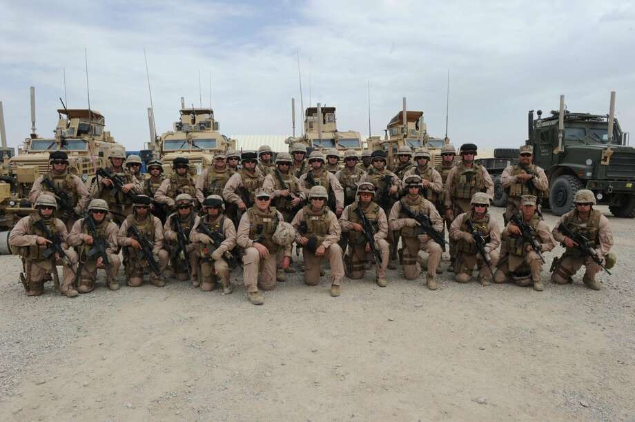 The Woodlands resident Commander Anthony Spinler is leading Naval Mobile Construction Battalion 15 in Afghanistan, a unit of 500 SeaBees from the area. Photo: Courtesy