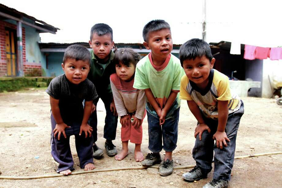 A group of young boys in the tiny village of Pena Blanca, Guatemala, where filmmakers  Chris Temple, of Westport, his classmate Zach Ingrasci  and their two friends subsist on a total of just $224 for an entire summer.