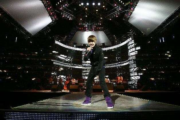 Justin Bieber at RodeoHouston. No cowboy hat? Photo: Michael Paulsen, Houston Chronicle