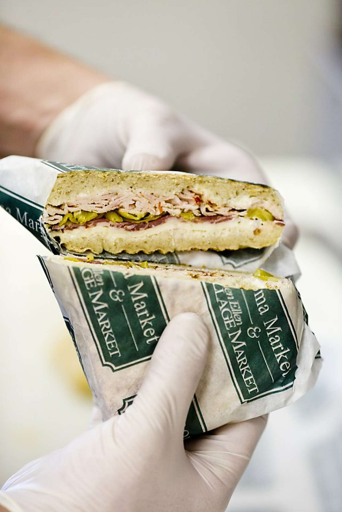 Paninis like this are offered at the Glen Ellen Village Market.
