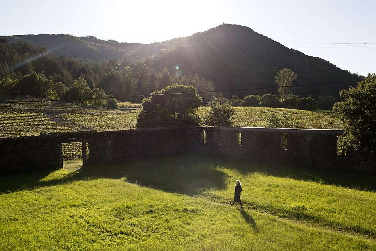 Remnants of the old winery walls at Jack London State Park near Glen Ellen, Calif.