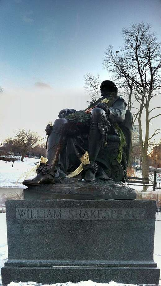 William Shakespeare statue in Lincoln Park, Chicago, by William Ordway Partridge, 1893.