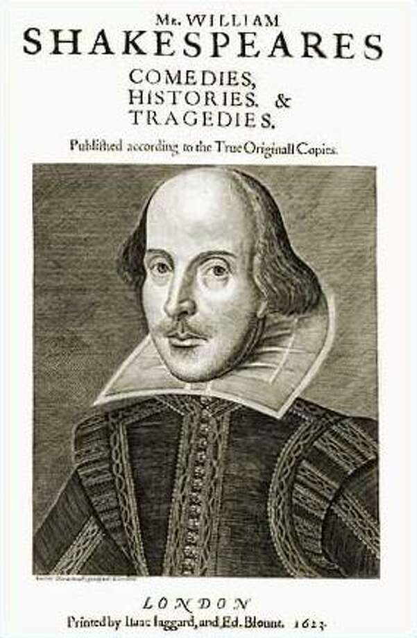 Engraved portrait of Shakespeare by Martin Droeshout, on the title page of the first publication of his works, the First Folio, shows distinct similarities when compared to the oil painting Photo: Multiple