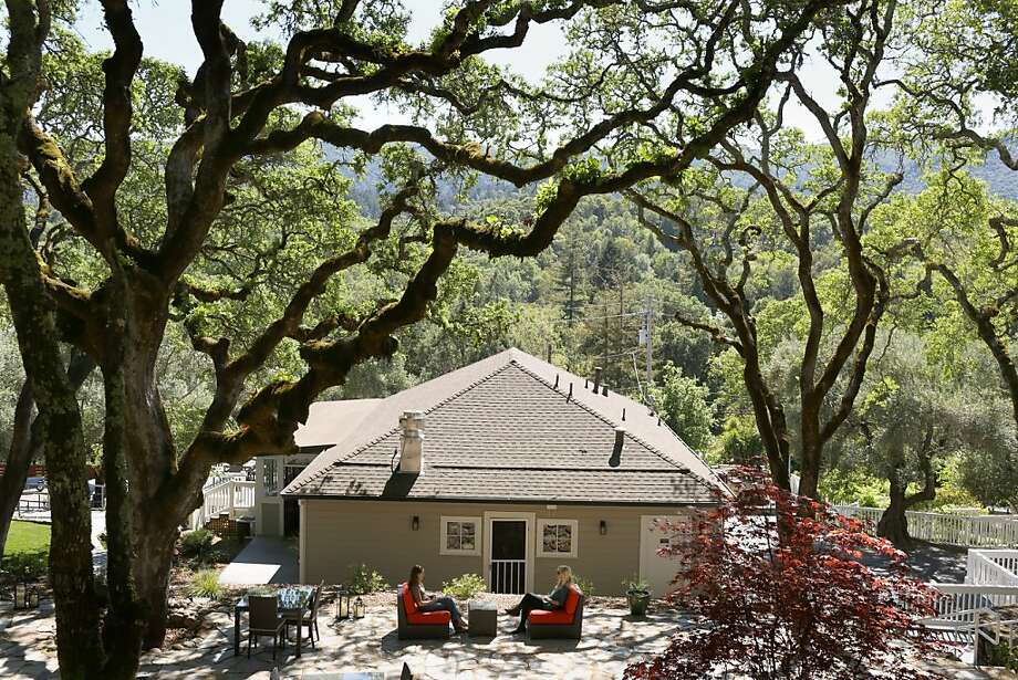 The grounds of the newly renovated Olea Hotel, a bed and breakfast in Glen Ellen that offers a multicourse breakfast and nightly dessert and wine tasting. Photo: Jason Henry, Special To The Chronicle