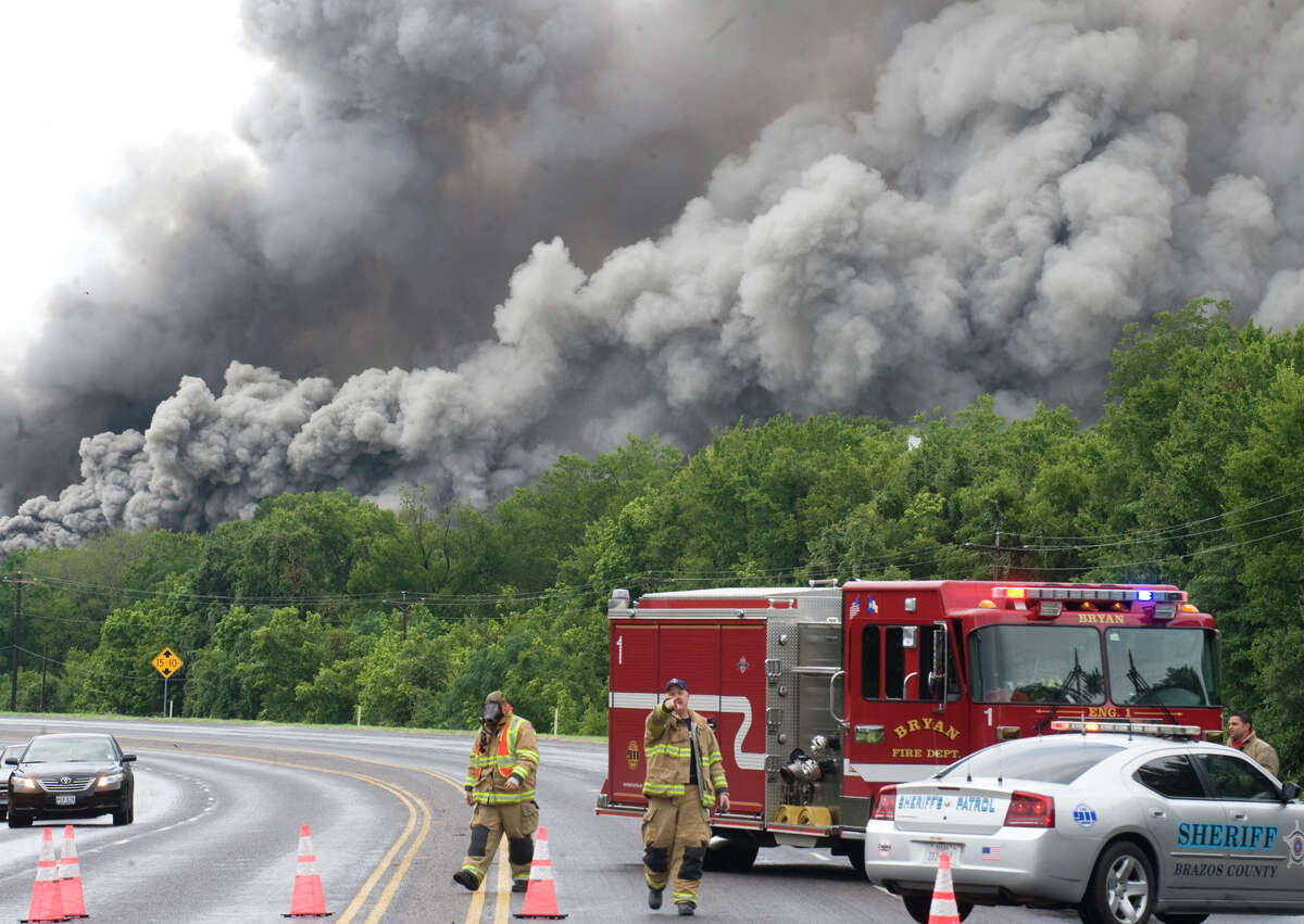 El Dorado Chemical's warehouse and plant near Bryan caught fire in 2009, causing a mass evacuation. In the aftermath, the company rebuilt the plant with a concrete storage facility for ammonium nitrate.
