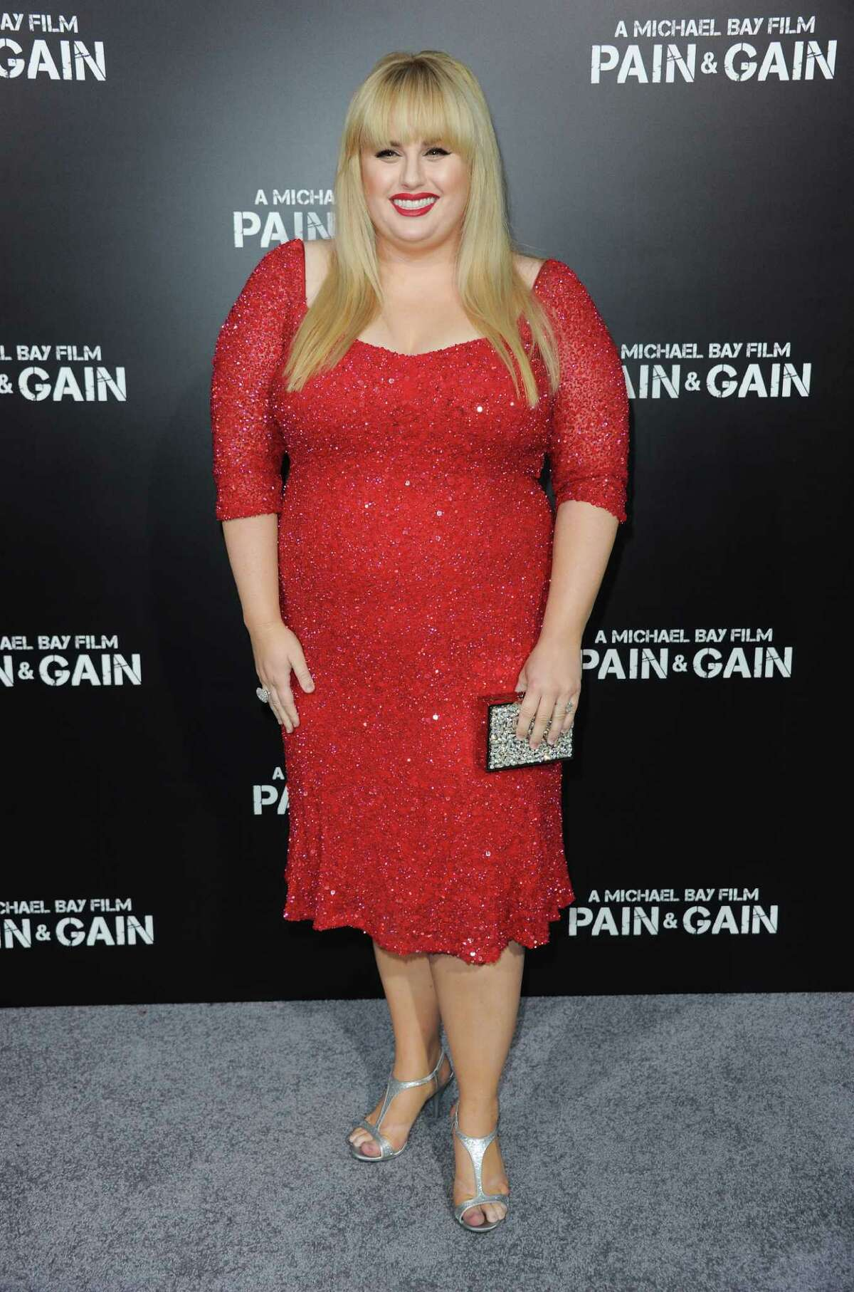 """Rebel Wilson arrives at the LA Premiere of """"Pain and Gain"""" at the TCL Theatre on Monday, April 22, 2013 in Hollywood, Calif. (Photo by Richard Shotwell/Invision/AP)"""