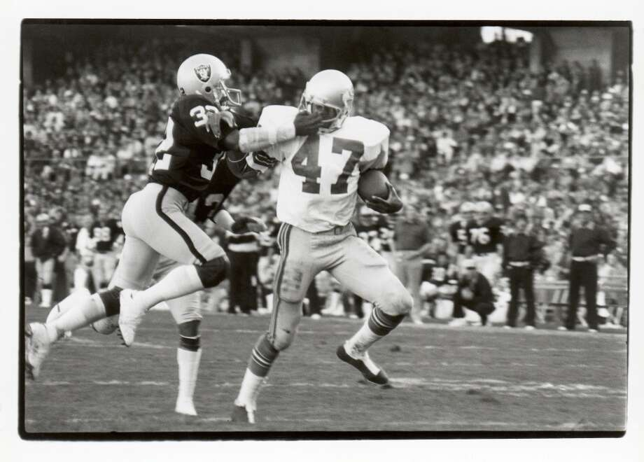1976: Sherman Smith58th-overall pick | Position: Running back | College: Miami (Ohio)  A starter for most of his time with the Seahawks, Smith (pictured No. 47) ran for 3,429 yards in his seven years in Seattle, ranking him seventh all-time among Seahawks rushers. He had 28 rushing touchdowns for the Seahawks and 10 receiving TDs from 1976 through 1982. Smith finished his career with 3,520 yards after one final season with the San Diego Chargers, retiring after 1983. Photo: Michael Zagaris, Getty Images