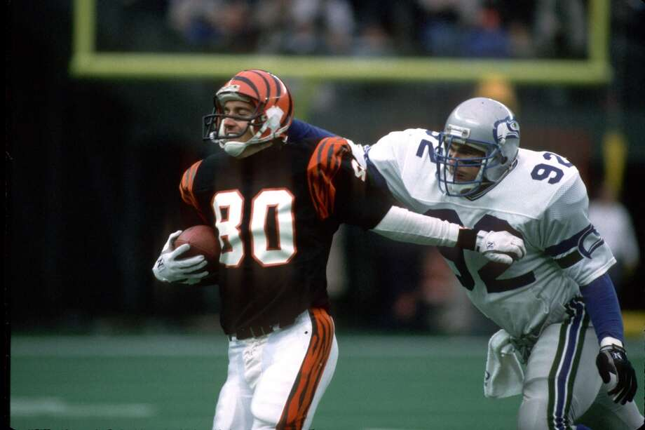 1987: David Wyman45th-overall pick   Position: Linebacker   College: StanfordWyman (pictured No. 92) was a consistent starter for the Seahawks in the late '80s and early '90s, starting 56 of his 61 games with Seattle. He had 3.5 sacks, two interceptions and 364 tackles during that time, then headed to Denver for his final three pro seasons. Wyman retired after 1995 with 540 career tackles, and is now a host at 710 ESPN sports radio in Seattle. Photo: George Gojkovich, Getty Images