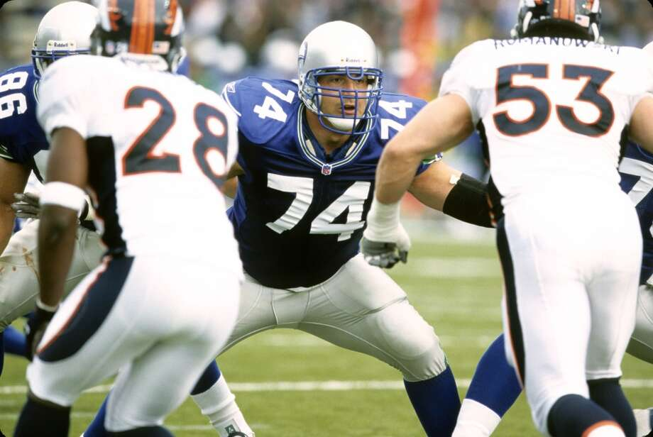 1998: Todd Weiner47th-overall pick | Position: Offensive tackle | College: Kansas State  Weiner (pictured No. 74) worked his way up to the starting job by his third year with the Seahawks, and started 13 of his 16 games in 2001. He then went on to play seven more years with the Falcons, retiring after 2008 as a consistent starter in Atlanta. Photo: Tami Tomsic, Getty Images