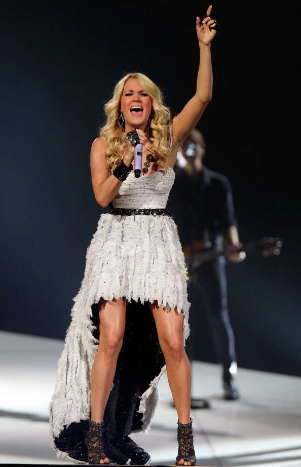 "Carrie Underwood told the crowd, ""it is so good to be in Texas,"" Tuesday at the Toyota Center. Photo: Cody Duty, Staff / © 2013 Houston Chronicle"