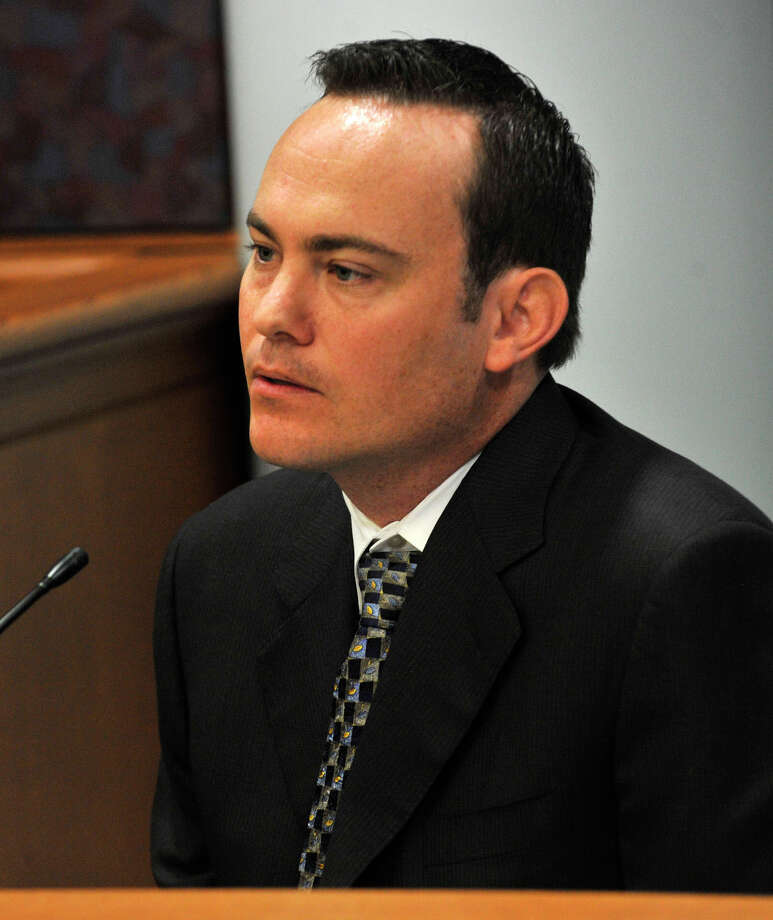Jason Throne, who worked for Mickey Sherman, testifies at Michael Skakel's habeas corpus trial at State Superior Court in Vernon, Conn., on Tuesday, April 23, 2013. Photo: Jason Rearick / Stamford Advocate