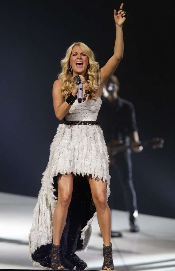 "Carrie Underwood is promoting her latest album, ""Blown Away."" Her latest hit is the single ""Good Girl."""