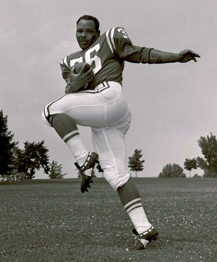 San Francisco 49ers, RB Joe Perry, Compton Community College. The 1969 Hall of Fame inductee was the first player in NFL history to post consecutive 1,000-yard seasons and finished with 12,532 combined yards during a 16-year career in which he was a 3-time Pro Bowler and 2-time All-Pro.    PHOTO: Baltimore Colts fullback Joe Perry poses for a photo in Westminster, Md., on July 19, 1961. Photo: Associated Press File Photo