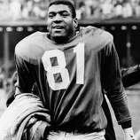 "Detroit Lions: DB Dick ""Night Train"" Lane, Western Nebraska, CC-Scottsbluff. The 7-time Pro Bowler and 3-time All-Pro had 68 career INTs. He originally signed with the Los Angeles Rams and had 14 INTs as a rookie and tallied 10 more for the Chicago Cardinals in '54. Played his last 6 seasons for Lions.   PHOTO: Lane leaves the field at Briggs Stadium after intercepting a Johnny Unitas pass in closing minutes of game and racing 80 yards for a touchdown, Oct. 23, 1960, in Detroit."
