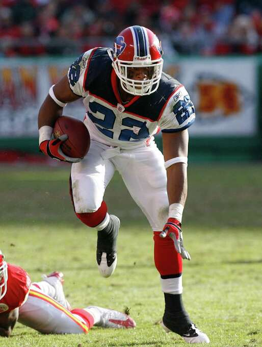 Buffalo Bills: RB Fred Jackson, Coe College. Signed to the Bills practice squad in 2006 out of the United Indoor Football League and made his NFL debut in '07. Between '09-11, he tallied nearly 4,000 yards from scrimmage.PHOTO: Jackson (22) during an NFL football game on Nov. 23, 2008, in Kansas City, Mo. Photo: Ed Zurga, Associated Press File Photo / 2008 AP