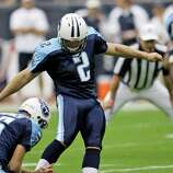 Tennessee Titans: K Rob Bironas, Georgia Southern. Pro Bowler and All-Pro was in camp with Packers in '02, Buccaneers in '03 and Steelers in '04 before landing with Titans in '05. Trails only Al Del Greco in franchise history with 916 career points, ranks 3rd in NFL history (85.6) in accuracy among Ks with 100 FGs.     PHOTO: Bironas (2) kicks a field goal during the first quarter of an NFL football game against the Houston Texans on Oct. 21, 2007, in Houston.